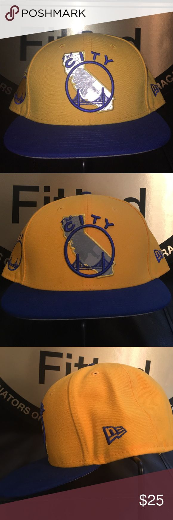 GOLDEN STATE SF WARRIORS NEW ERA 59FIFTY 7 5/8 Pre-owned in GREAT CONDITION no damage or stains from smoke free home.  New era cap 59fifty fitted sz 7 5/8 ALL ORDERS SHIP NEXT BUSINESS DAY WITH CLEARED PAYMENT  THANKS FOR YOUR INTEREST! New Era Accessories Hats
