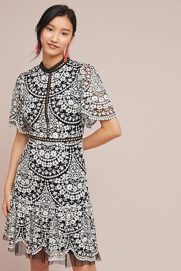 e74560e4ba1 ML Monique Lhuillier Morrell Embroidered Dress in 2019