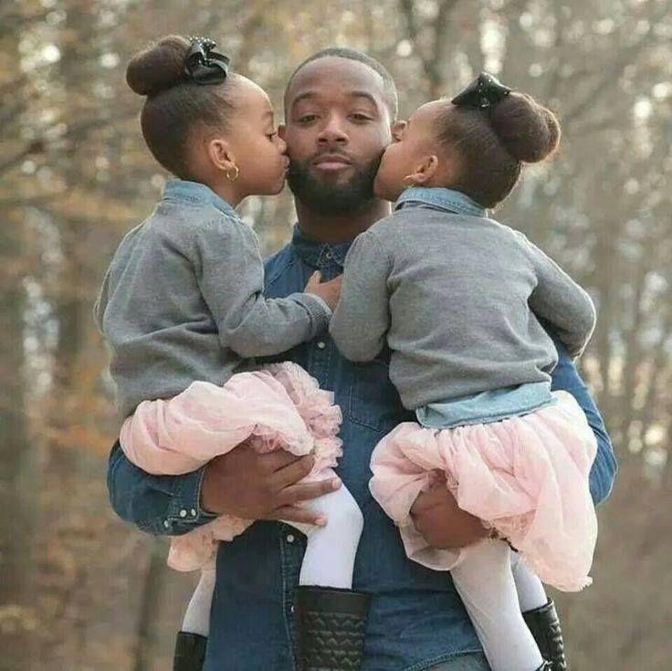 Daddy's Girls - http://community.blackhairinformation.com/hairstyle-gallery/kids-hairstyles/daddys-girls/ #kidshairstyles