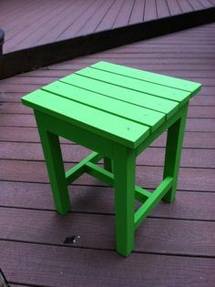 Adirondack End Table. Build it yourself and spruce it up with a fun paint color! Free Plans at Ana-White.com