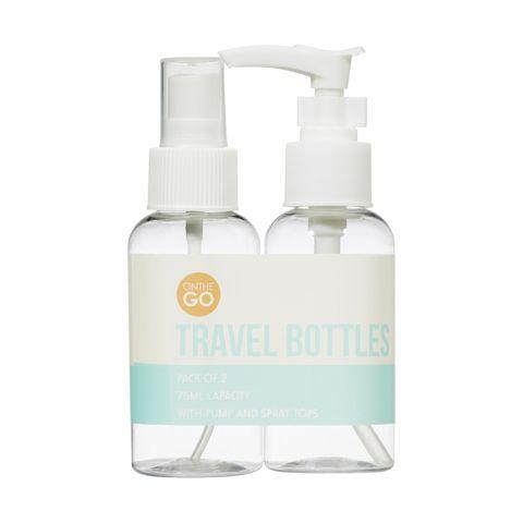 75ml Travel Bottles - Clear, Set of 2