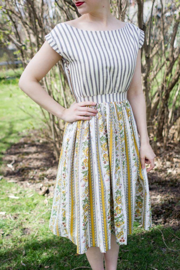 DIY: vintage style sun dress