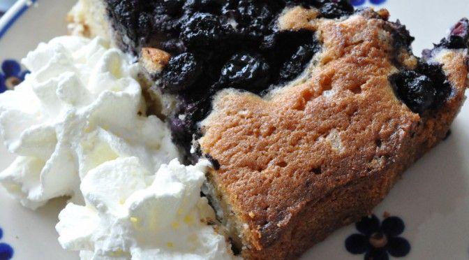 Lækker tærte med blåbær, marcipan og vanilljeprikker