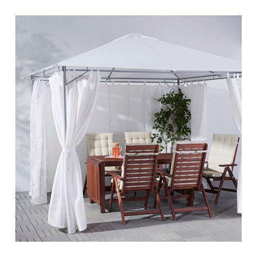 KARLSÖ Gazebo with curtains - 300x300 cm - IKEA