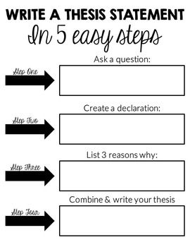 steps to developing a thesis statement Developing a thesis statement for a paper what is a thesis statement step 5: revise your thesis statement as needed during the writing process.