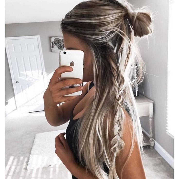 How amazing is this pic of @kelsrfloyd!? Hair envy  wearing our deluxe bronzing mousse in ultra dark xx