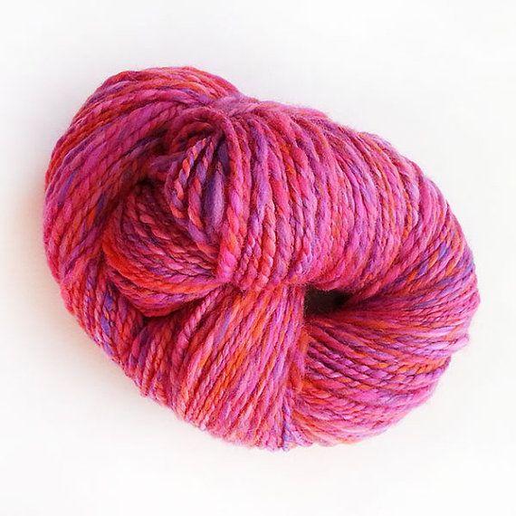 Cosmic Sunset - Handspun 100% Merino Wool 2 ply yarn.