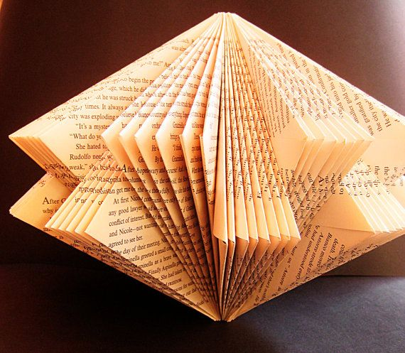 Art Star Book paper Sculpture altered Book folded paper recycled Book