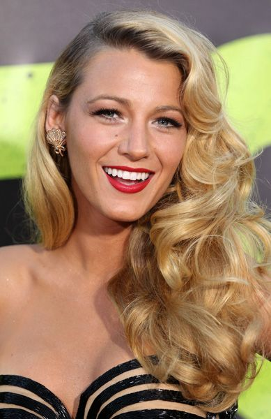 Blake Lively wears the pin-up curls look beautifully!  When I eventually get married... THIS is what my hair and make up will look like.