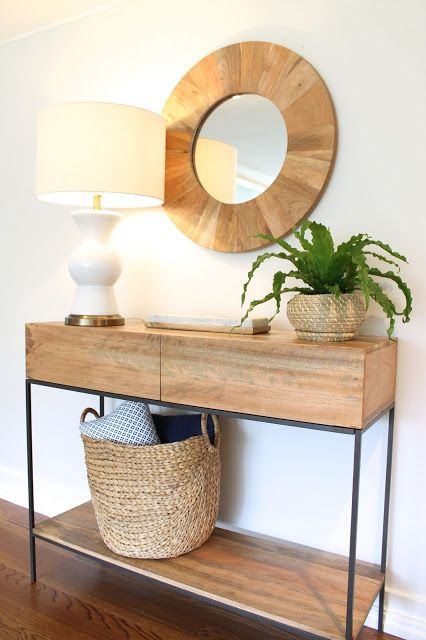 natural wood console table #westelm #target #ikea #homegoods