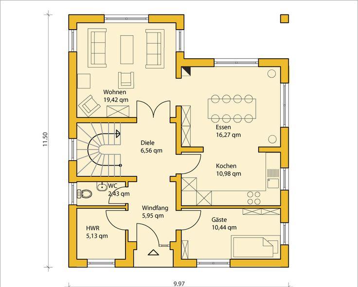 Einfacher grundriss  95 besten Grundriss Bilder auf Pinterest   Haus grundrisse ...