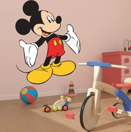 Mickey Mouse Wall Sticker #mickey #disney #mickeymouse #kids #children #wallstickers #wallart http://www.abodewallart.co.uk/wall-stickers/Mickey-Mouse-Sticker.html