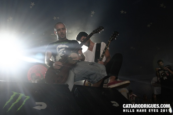 Mike and Vítor at Resurrection Fest (Viveiro/Spain) - 2011
