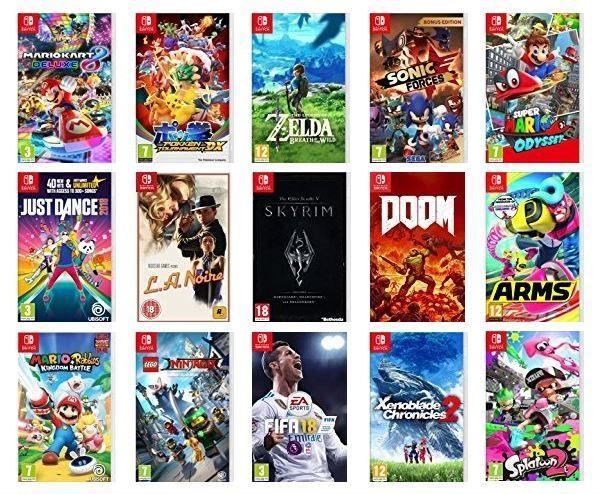 Nintendo Switch Games Super Mario Odyssey Legend Of Zelda