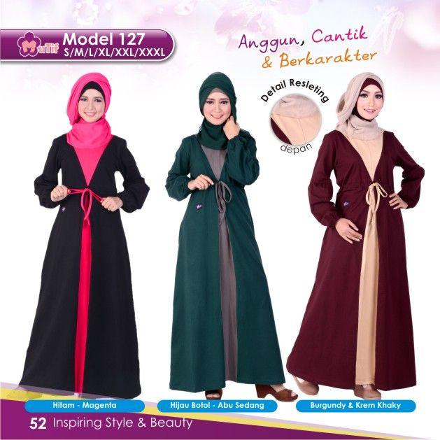 """Gamis Mutif 127 cocok untuk wanita yang ingin tampil""""Simple & Beauty"""",praktis dan nyaman digunakan dengan bahanKatun Combedyang nyaman dan tidak panas"""