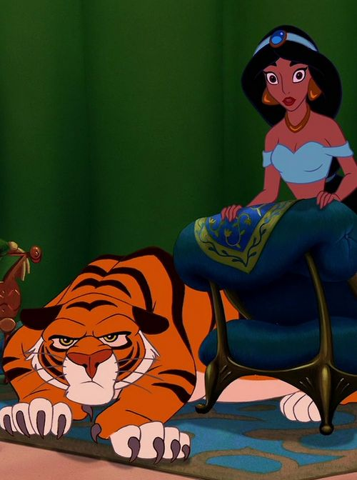 Is A Tiger And He So Sweet Protective Of Jasmine Disney Movie