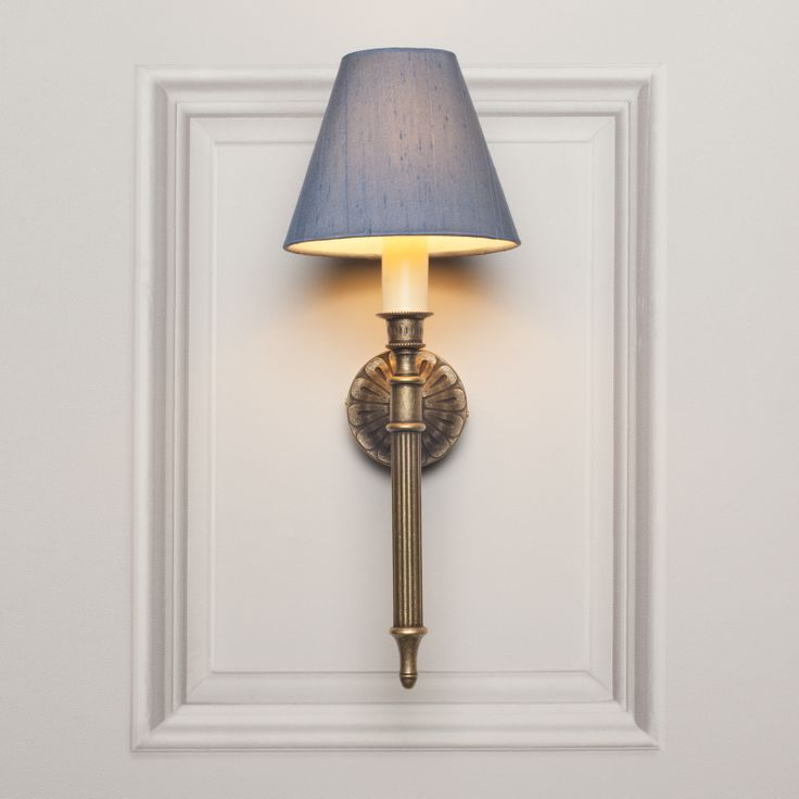 The *NEW for 2014* Grantham Wall Light in Antiqued Brass.