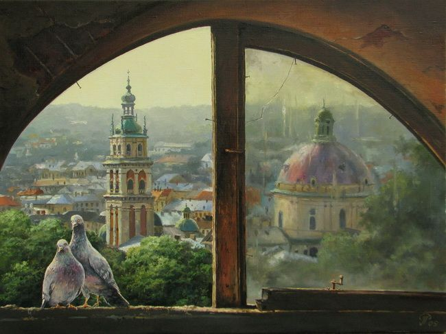 Вид зі старого горища | View from the old attic * 60х80 см, 2009