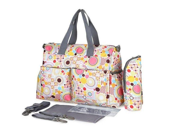Stylish Waterproof Diaper Bag 4pcs Set