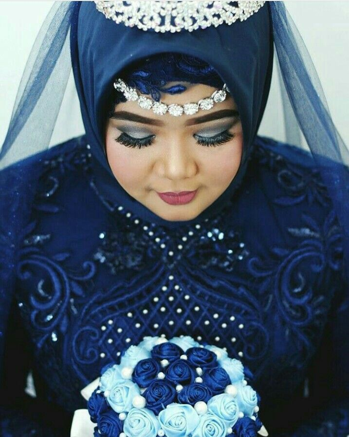 My wedding...  #wedding#hijab#navy#hijabwedding