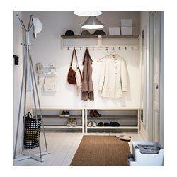 TJUSIG Banc avec rangement chaussures, blanc - blanc - 108x50 cm - IKEA
