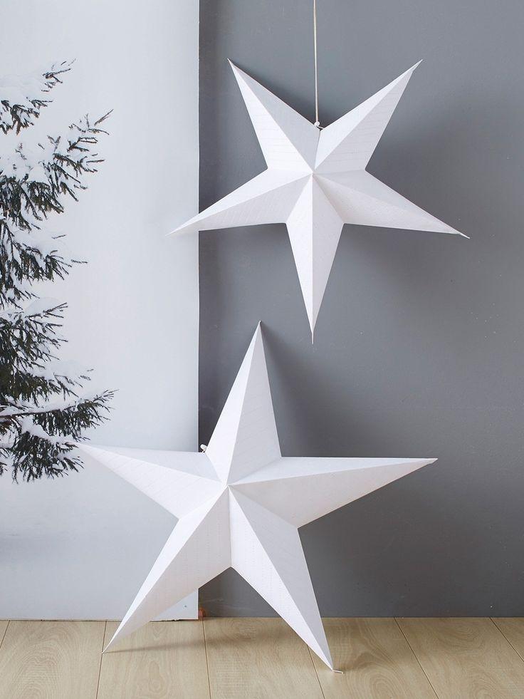 2 Toiles En 3d Fa On Origami Poser Ou Suspendre Pour Une D Co De No L Sobre Tendance Et