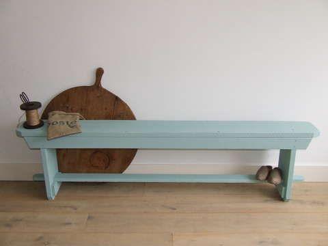 Aan de ene kant van de tafel zou ik een bankje zetten leenbakker leen - Tafel woonkamer van de wereld ...