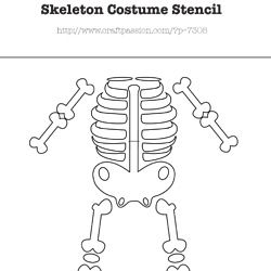 Skeleton-Diagram to make my daughter's costume this Halloween.  I think I will use this and freehand it, then paint it in with glow in the dark paint.  Voila!