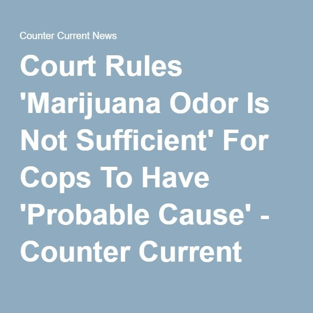 Court Rules 'Marijuana Odor Is Not Sufficient' For Cops To Have 'Probable Cause' - Counter Current News
