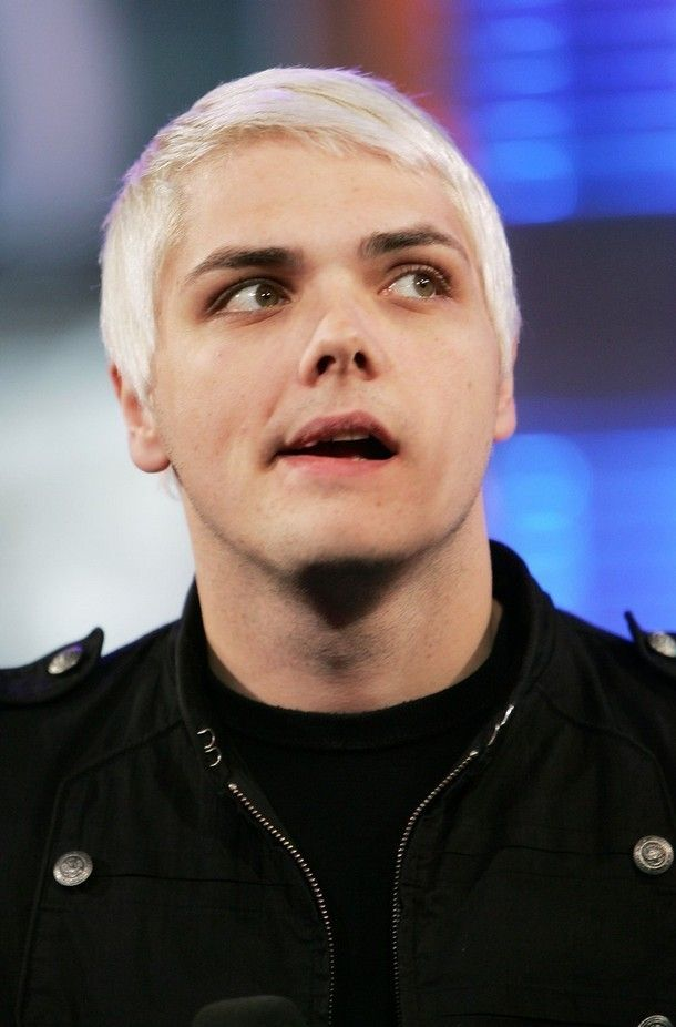 Gerard way with white hair for Welcome To The Black Parade ...
