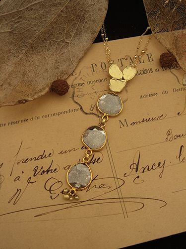 [Slice Cut Diamond Collection : 008] Pendant-K18YG/Diamond