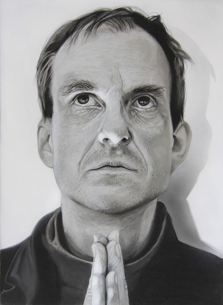 """""""Cristian B."""" pencil on paper 410x300mm painting by wilfried ploderer 2015©"""