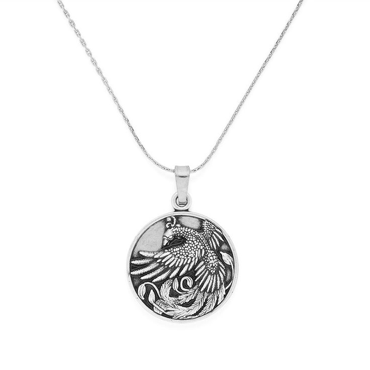 Rebirth • Magic • Healing - Phoenix necklace in Rafaelian Silver by ALEX AND ANI
