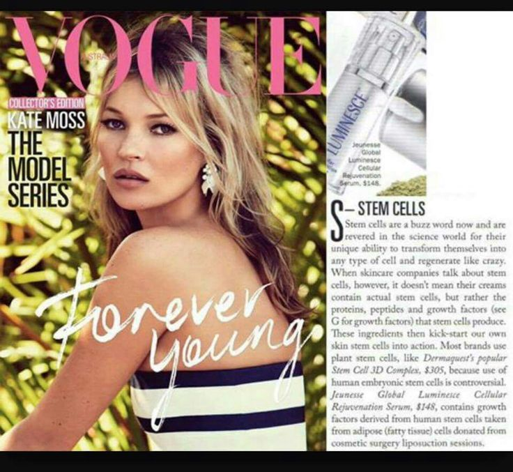 Jeunesse products being featured in Vogue magazine! Real products, helping real people, and there's proof! Come join this ground breaking company and start helping others just like I do! Message me, check out my Facebook page in this moment international, or visit www.inthismoment.jeunesseglobal.com now!