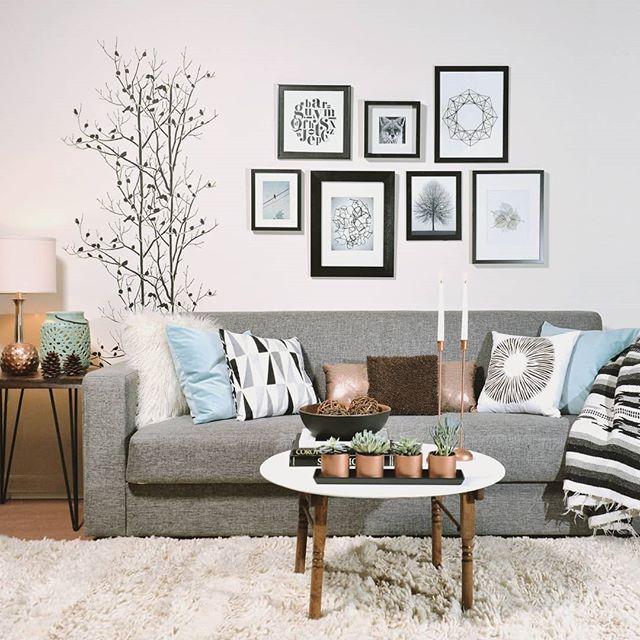 Add Nature Decor Using Wall Stencils Living Room Focal Wall Diy Home Decor Design Diy Design Painting Wall Stencil Living Room Scandinavian Decor Decor #wall #stencils #for #living #room