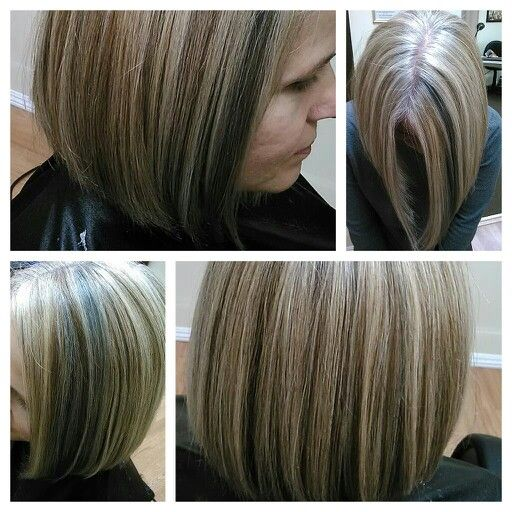 2 color blonde highlight gray