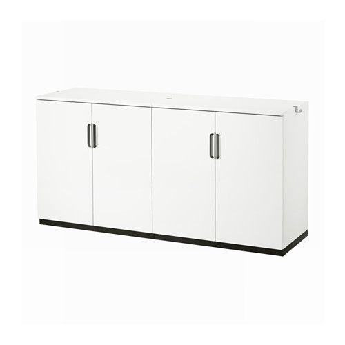 GALANT Förvaring med dörrar - vit - IKEA