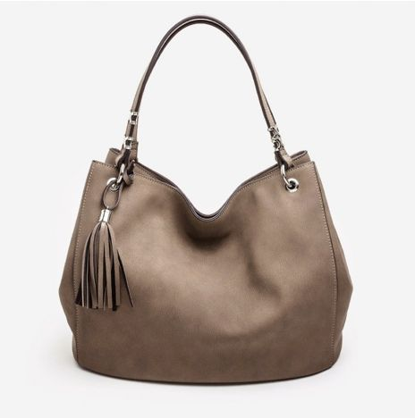 Classic Nubuck Tote - Warm Taupe