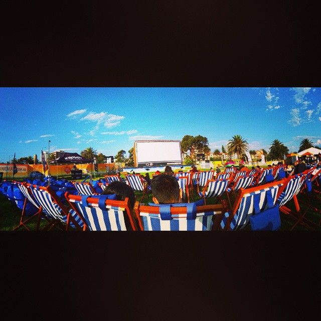 It was a chilly but lovely evening #stkilda #openaircinema #Melbourne