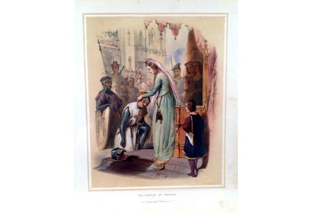 Hand-Colored Lithograph, English Royalty