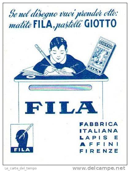 Carta assorbente FILA-GIOTTO Anni ´30 ´40