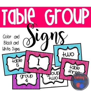 These black and white signs are perfect to use with your own classroom colors, just print on colored paper and laminate! Or, use the colored polka dot for a fun polka dot theme! These numbered color and black and white signs are available in 6 different formats for