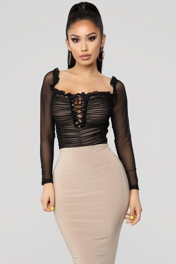 b09bcf7c0ebc Maura Mesh Bodysuit - Black in 2019 | Fashion Nova | Bodysuits ...
