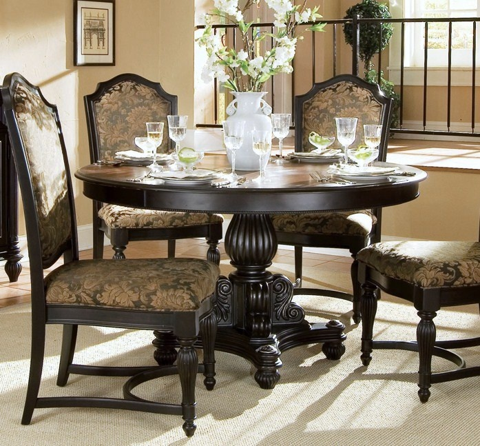 Elegant Classic Round Dining Room Table Design Ideas Picture: Round Dining  Room Table Decorating Ideas Love Those Chairs!