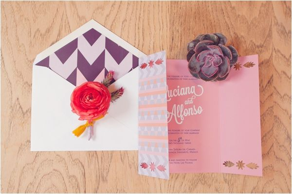 Mexican Inspired Wedding Invitation by Southern Fried Paper.