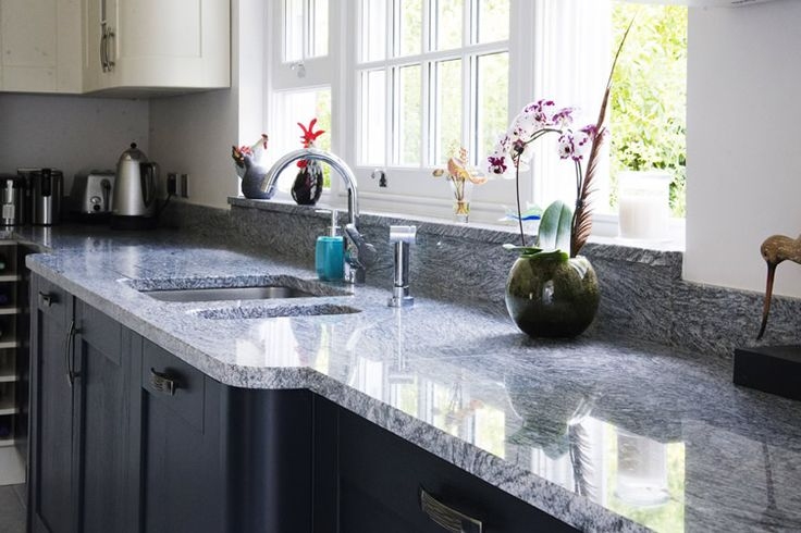 Silver Cloud Granite Worktops Installed West Clandon