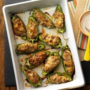 Sausage-Stuffed Jalapenos Recipe from Taste of Home