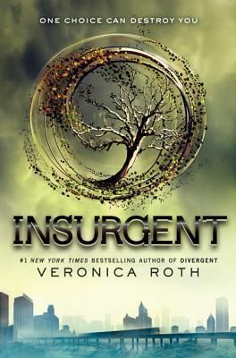INSURGENT by Veronica Roth. As war surges in the dystopian society around her, sixteen-year-old Divergent Tris Prior must continue trying to save those she loves--and herself--while grappling with haunting questions of grief and forgiveness, identity and loyalty, politics and love. http://vapld.aquabrowser.com/?q=isbn:9780062024046