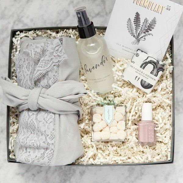 Relax & Restore Gift Box #bridal-shower-gifts #bridesmaid-gifts #custom-gift-boxes