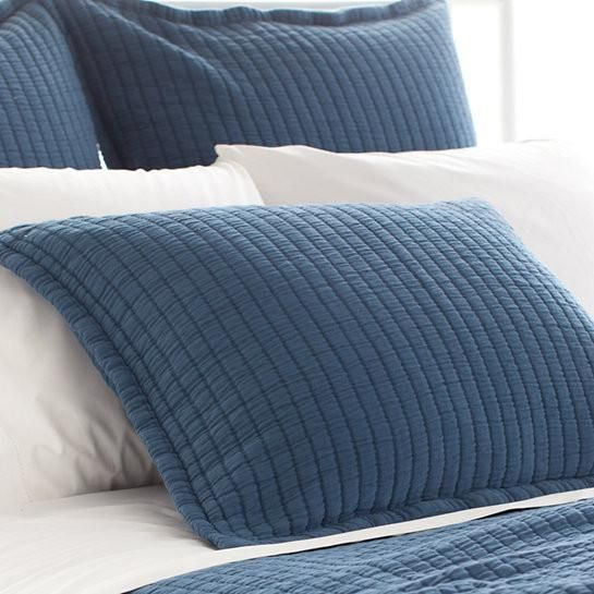Classic and soft this pillow shams from Pine Cone Hill are perfect for any guest or master bedroom suite.